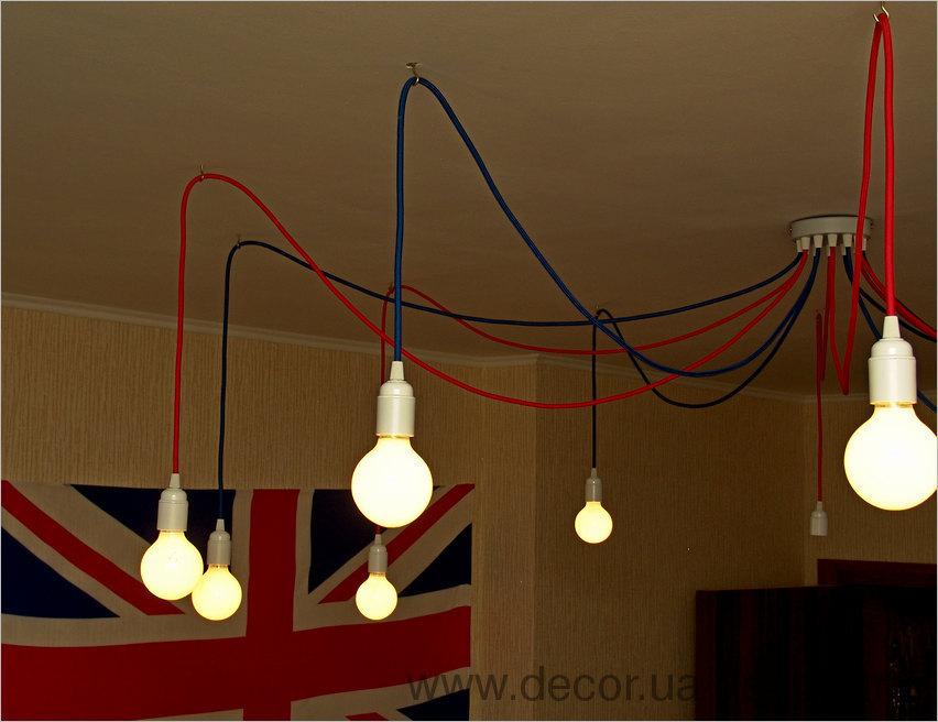 Потолок из лампочек своими руками 18