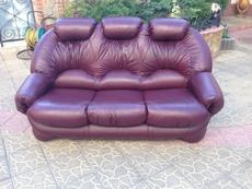 Кожаная мягкая мебель (диван) раскладной